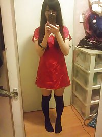Cute Hong Kong Teenage Cosplayer Selfie
