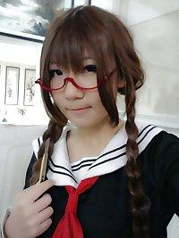 Cute Hong Kong Teenage Cosplayer Selfie