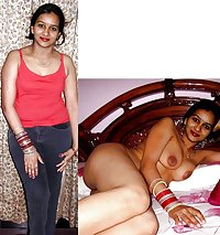 indian girls, aunties  dressed - undressed