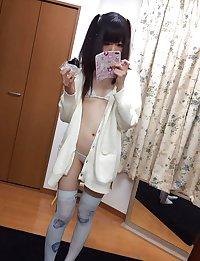 Amateur japanese student lingerie goddess selfies