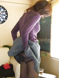 Beautiful Japanese wife Misaki wet loose pussy