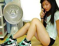 asian teen loves her dildo part1
