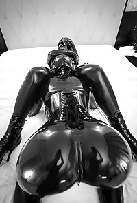 Shiny latex and Spandex Lycra swimsuit horny girls