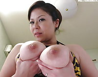 Asian swollen boobs, lactating puffy nipples big areolae