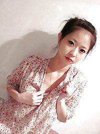 Cute chinese policewoman girl