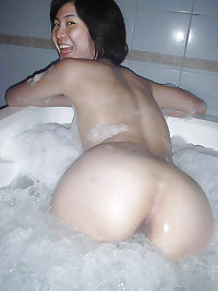 Asian babes taking bath & showering