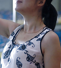 Candid Hairy Armpit Photography in China.